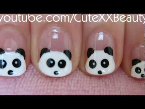 Cute And Easy Panda Nail Art Tutorial For Short Nails Must Try To