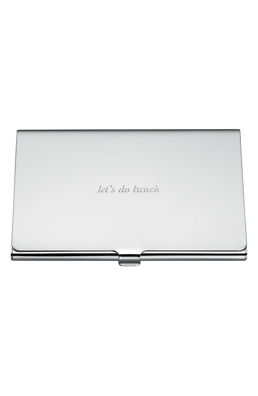 New kate spade new york let s do lunch business card holder fashion ...