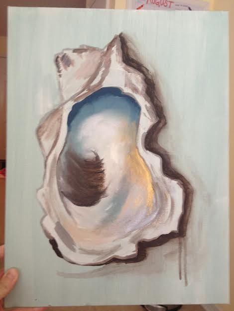 Oyster painting by ModernPaint on Etsy, $125.00