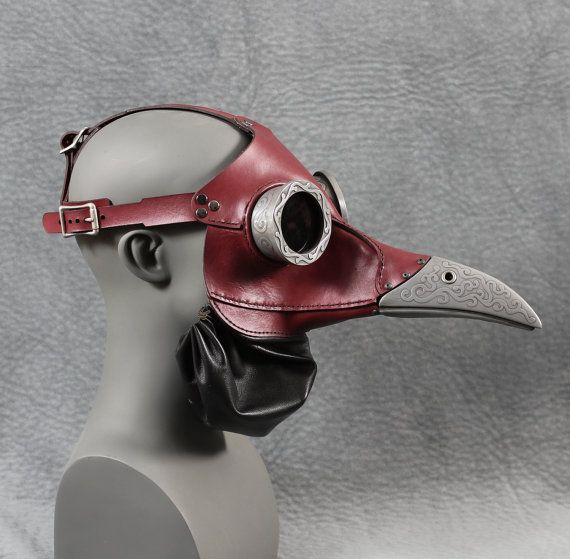 Ichabod Steampunk Plague Doctor Mask In Red By TomBanwell