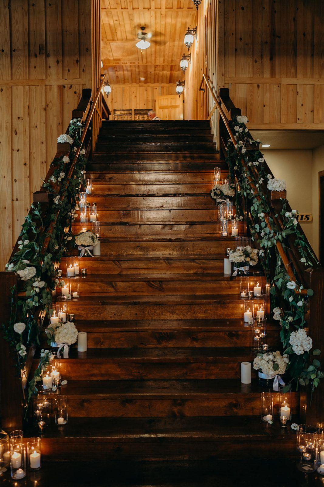 Elegant Wedding Staircase Decorations Wedding Staircase Decor