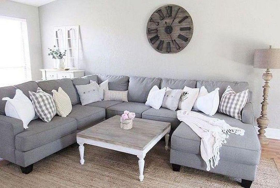 50 lovely farmhouse living room design and decor ideas