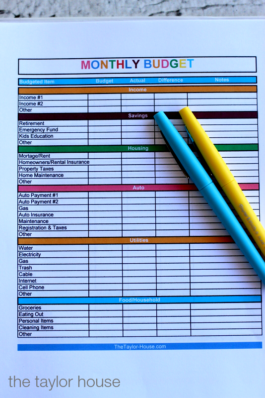 Make A Household Budget System Suntrustbucketlist Budget Planning Budgeting Budgeting System