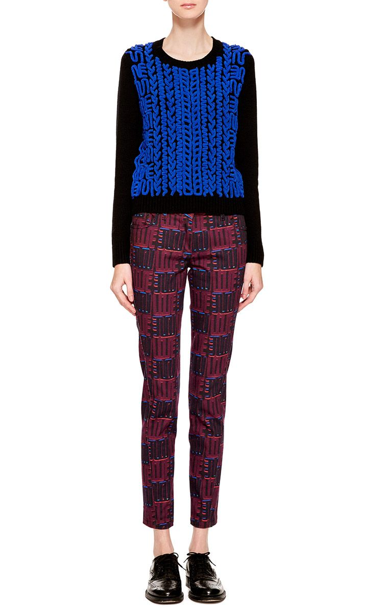 Wool Sweater With Chenille Embroidery by Kenzo for Preorder on Moda Operandi