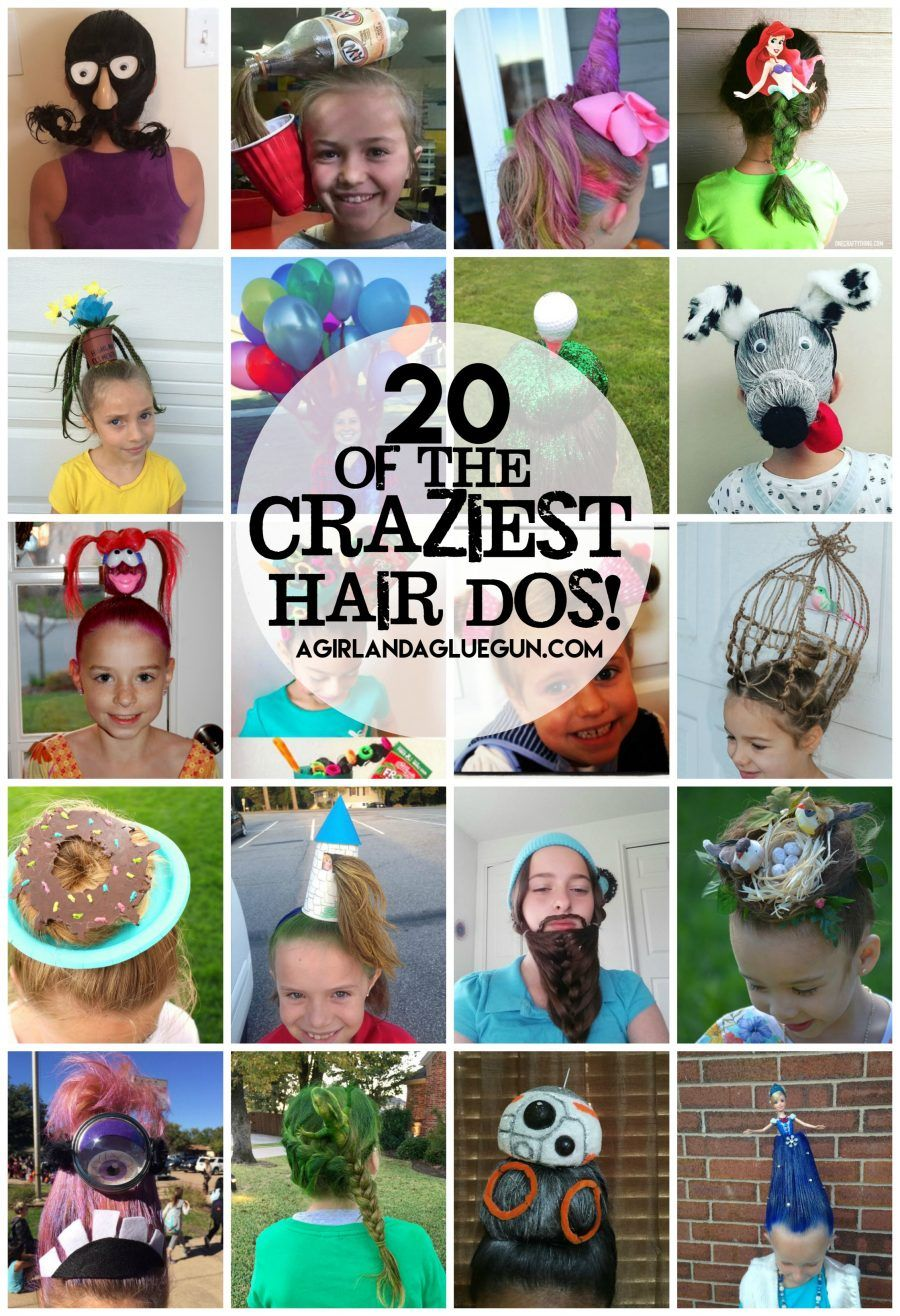 Crazy Hair day! - A girl and a glue gun