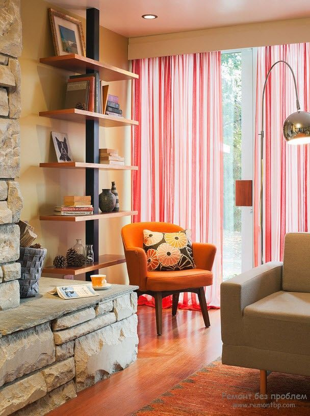 Contemporary Brown And Burnt Orange Living Room Ensign - Living Room ...