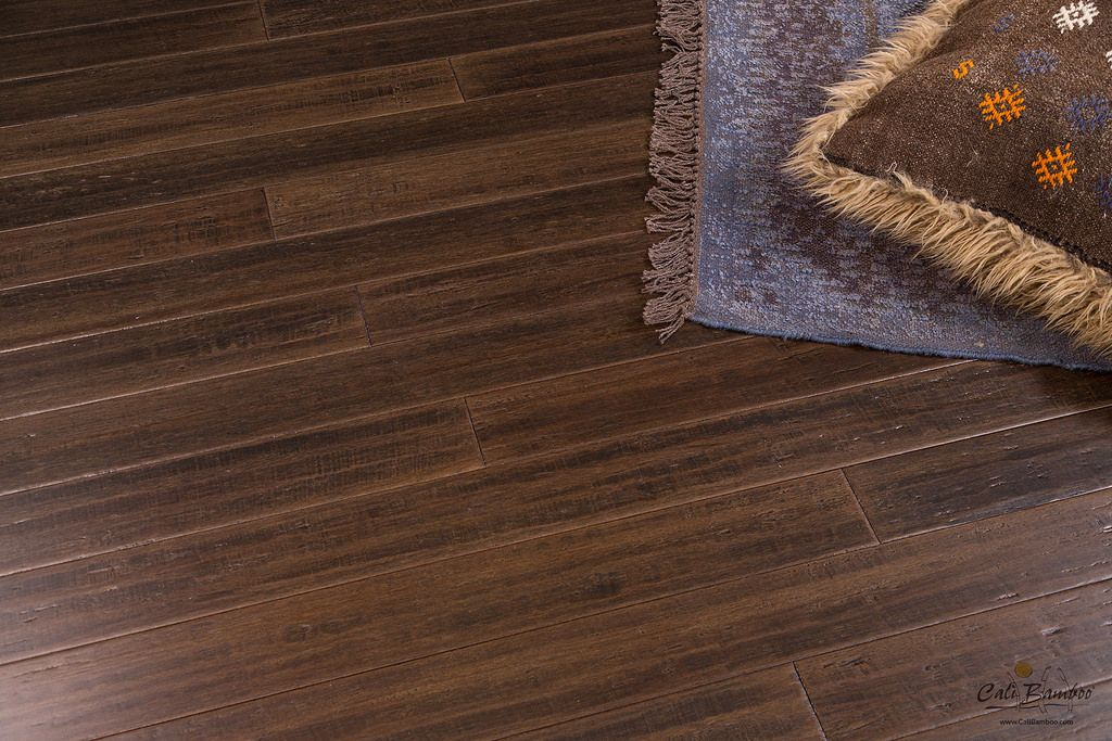 Distressed Bamboo Wood Flooring By Cali Bamboo Dark Brown Sample Bamboo Wood Flooring Dark Wood Floors Flooring