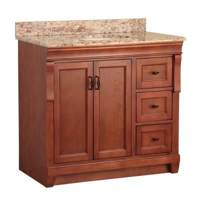 Foremost Naples 37 In W X 22 In D Vanity In Warm Cinnamon With