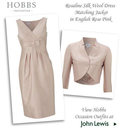 Hobbs two piece silk wool dress & matching jacket in English rose ...