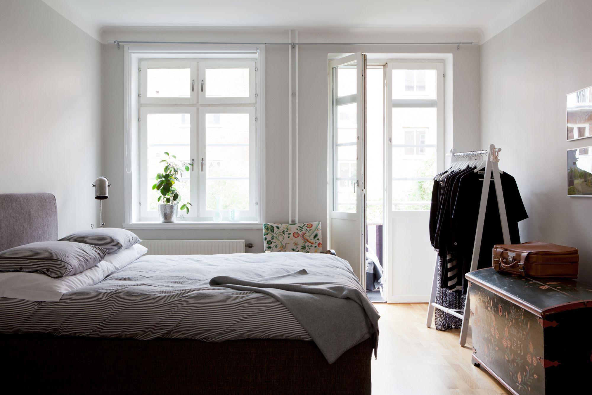 Paredes Grises Muebles Blancos Suelo De Madera Paredes Grises  # Muebles Habitacion Ikea