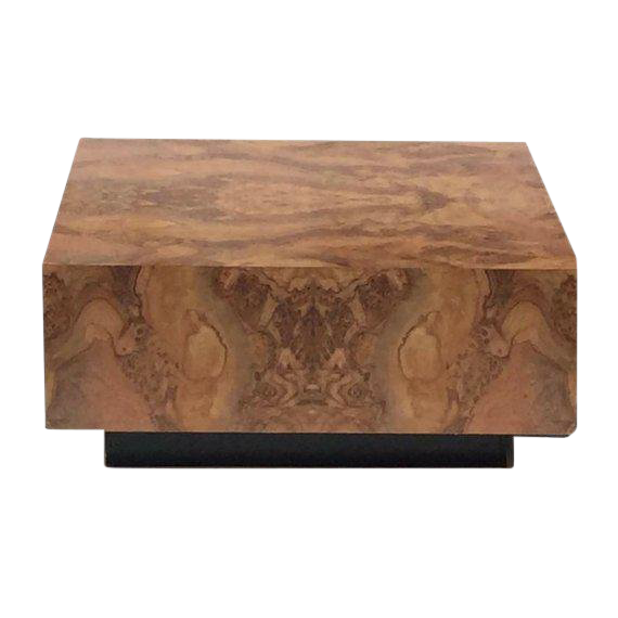 Vintage Burl Wood Coffee Table Floating Cube Pedestal Cocktail Table 36 Burled Wood Coffee Table Coffee Table Wood Burled Wood