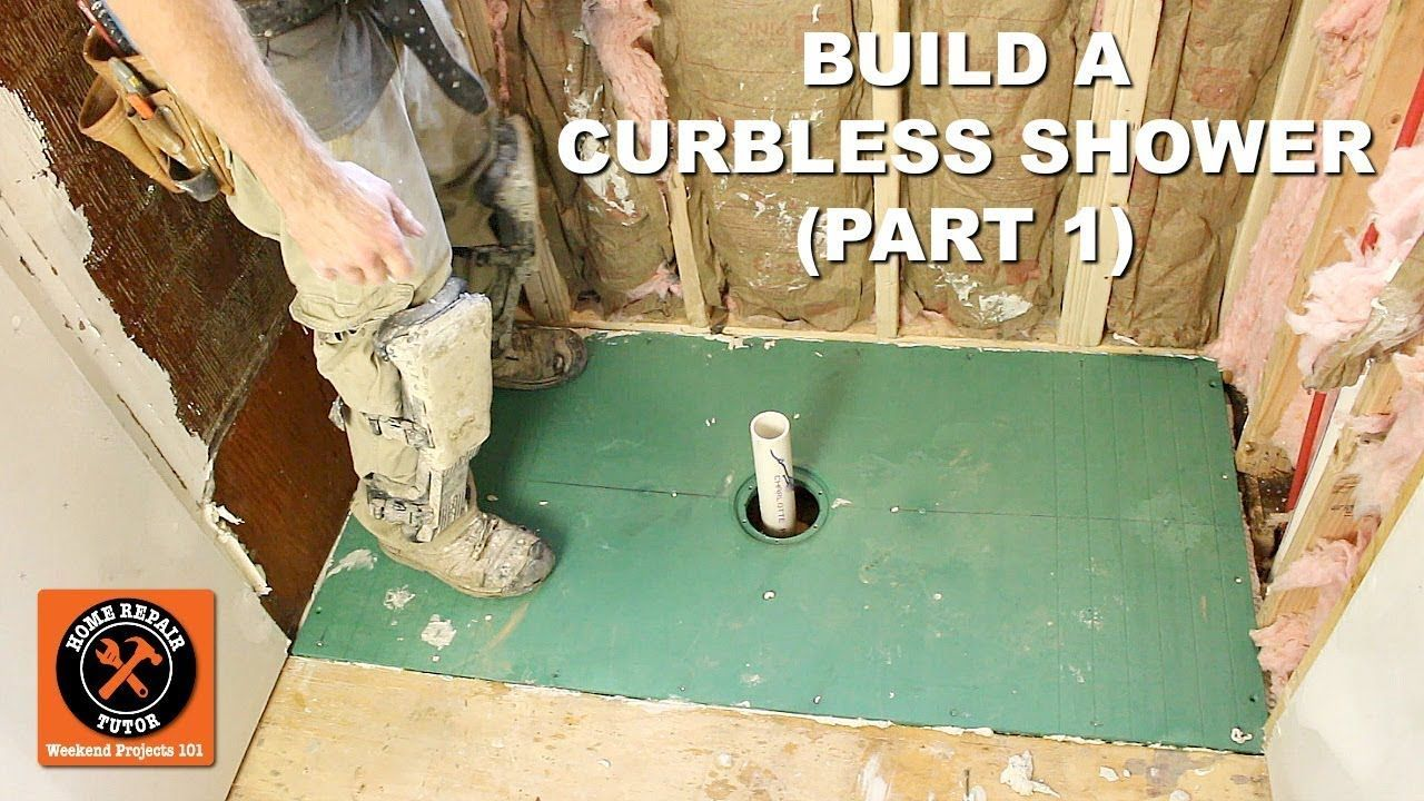 How To Build A Curbless Shower Part 1 Vim Shower Pan Install