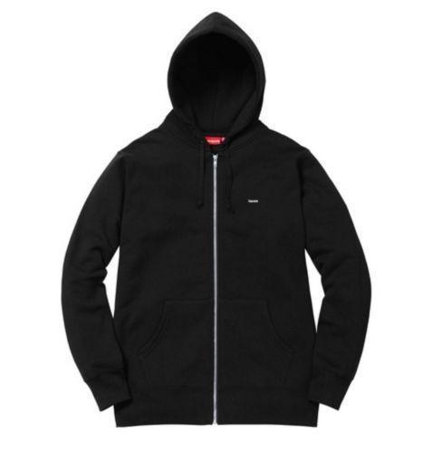 0ace922af0af Supreme Black Small Box Logo Thermal Zip Up Sweat - Size Large  Supreme   Hoodie