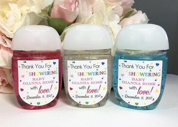 Sprinkled With Love Baby Shower Favor Label Hand Sanitizer Favor