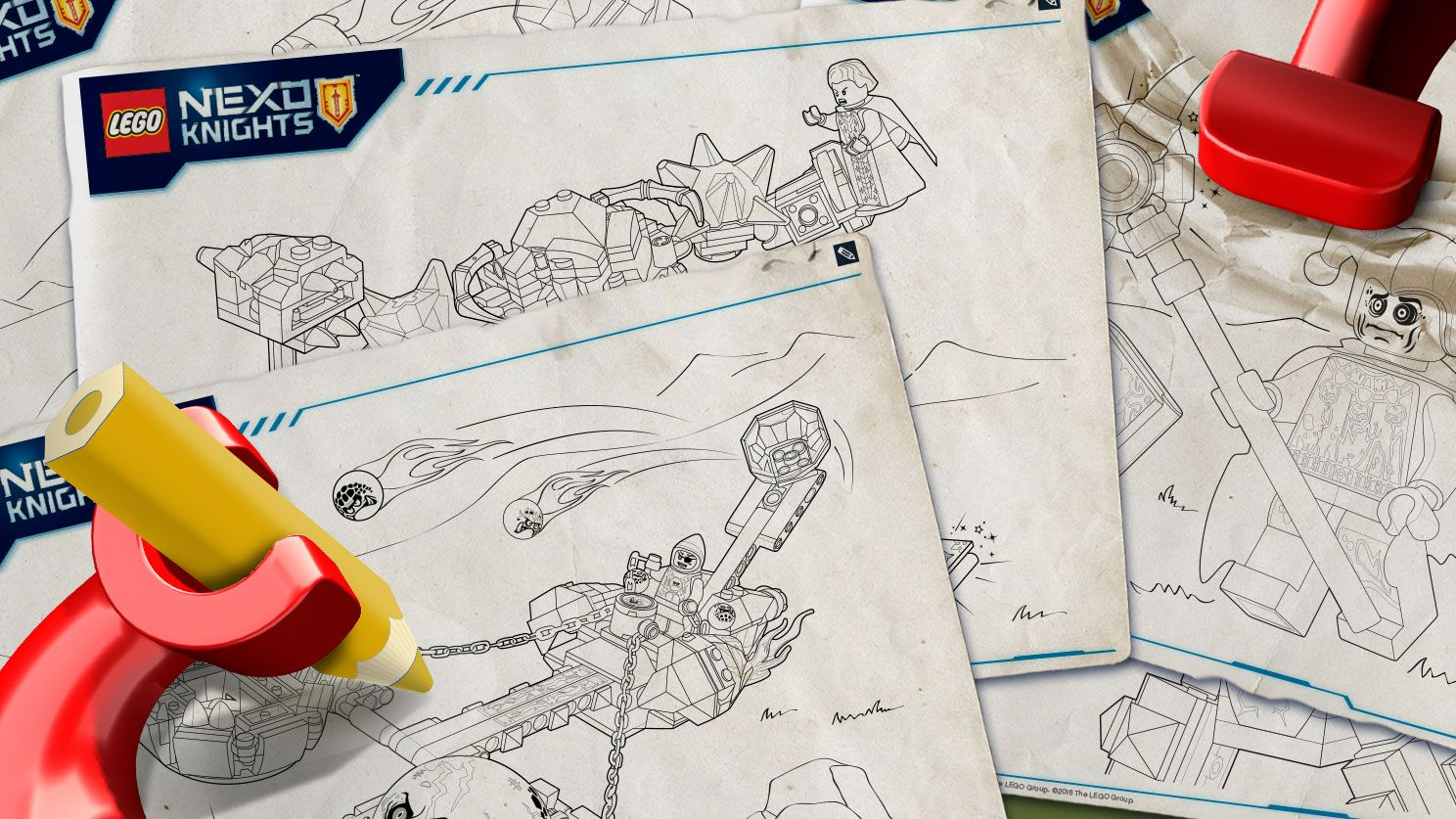 lego nexo knights products coloring sheets   lego
