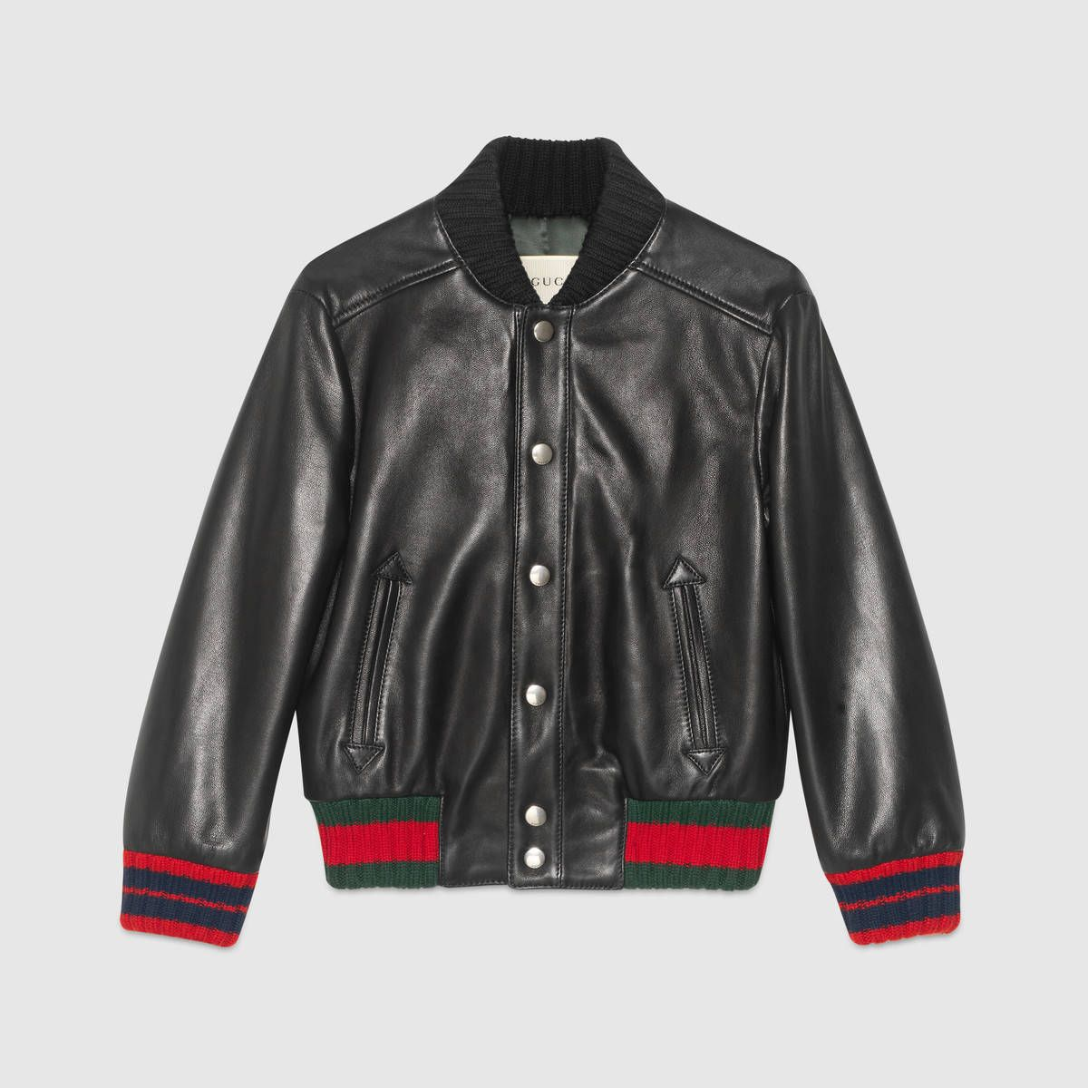 Children S Leather Bomber With Web Girls Jacket Designer Outerwear Leather Jacket [ 1200 x 1200 Pixel ]