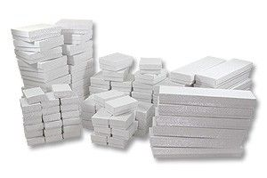 """$23.09, +shipping, This set is a collection of 100 White Swirl boxes containing: 20 each: #11 Box (2-1/8"""" x 1-5/8"""" x 3/4""""H) 20 each: #21 Box (2-5/8"""" x 1 1/2"""" x..."""