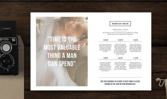 Wedding Timeline Template for Photographers by designbybittersweet