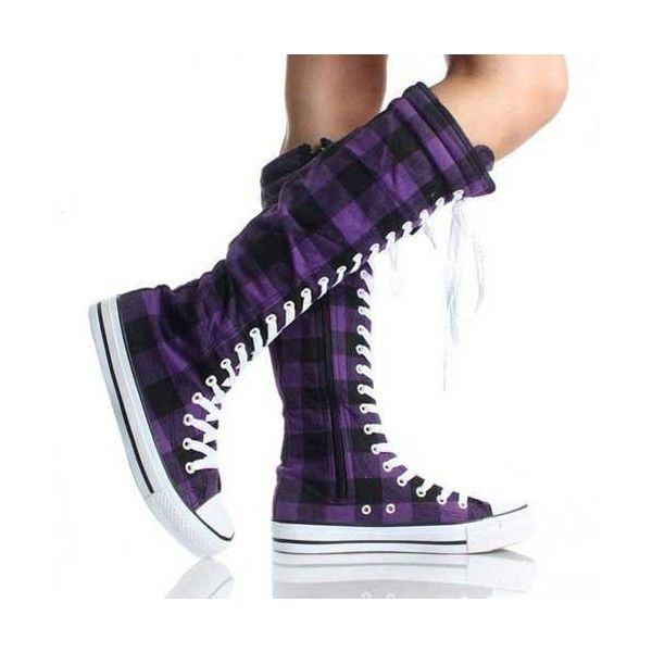 12 Fashionable Knee High Converse Shoes with Buckles for