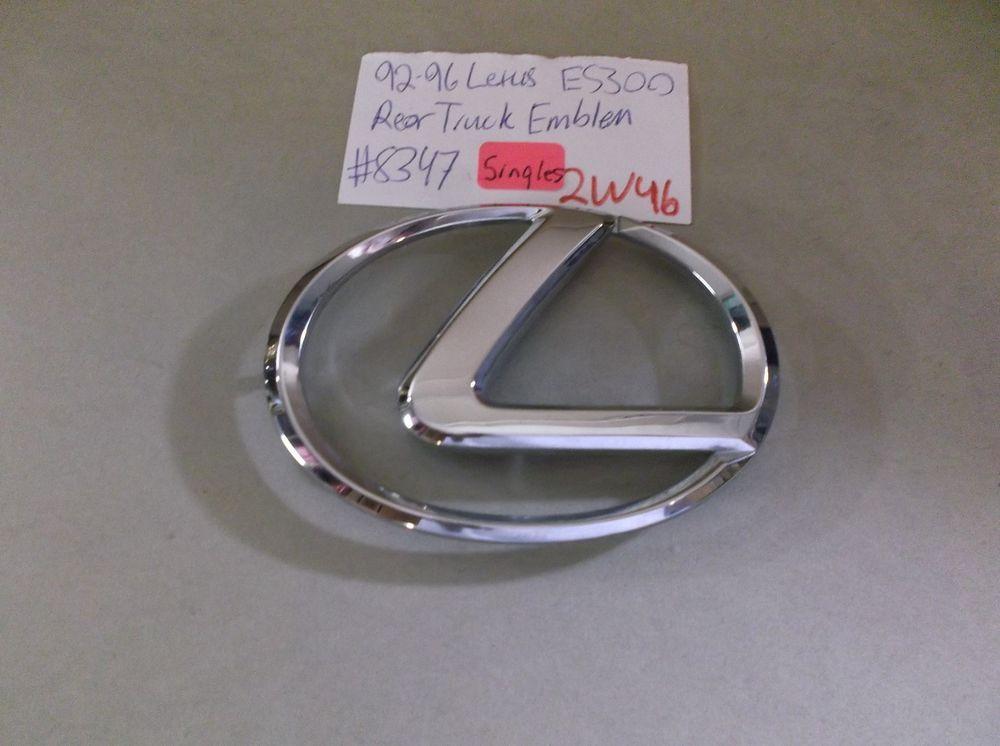 92 96 Lexus Es300 Rear Center Chrome Emblem Logo Badge Sign Symbol