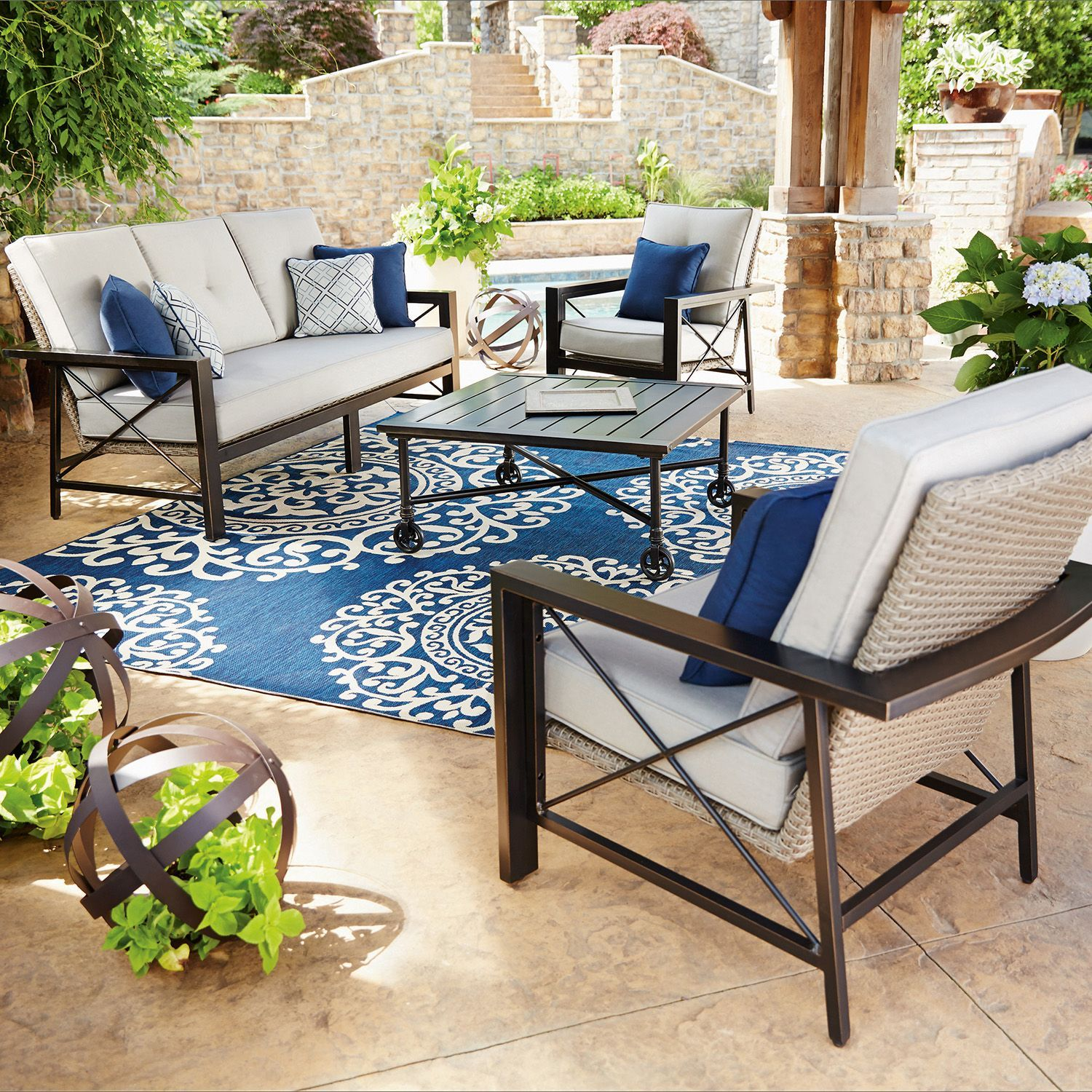 Buy Member's Mark Katana 4-Piece Seating Set : Foremost Group Outdoor at  SamsClub.com - Member's Mark Katana 4-Piece Seating Set AZ Casa Patio, Outdoor