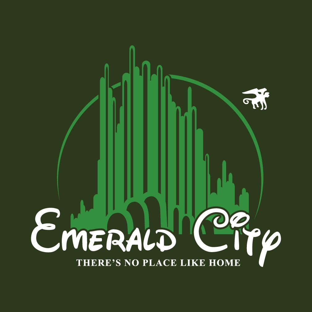 Emerald City There's No Place Like Home T-shirt Design By