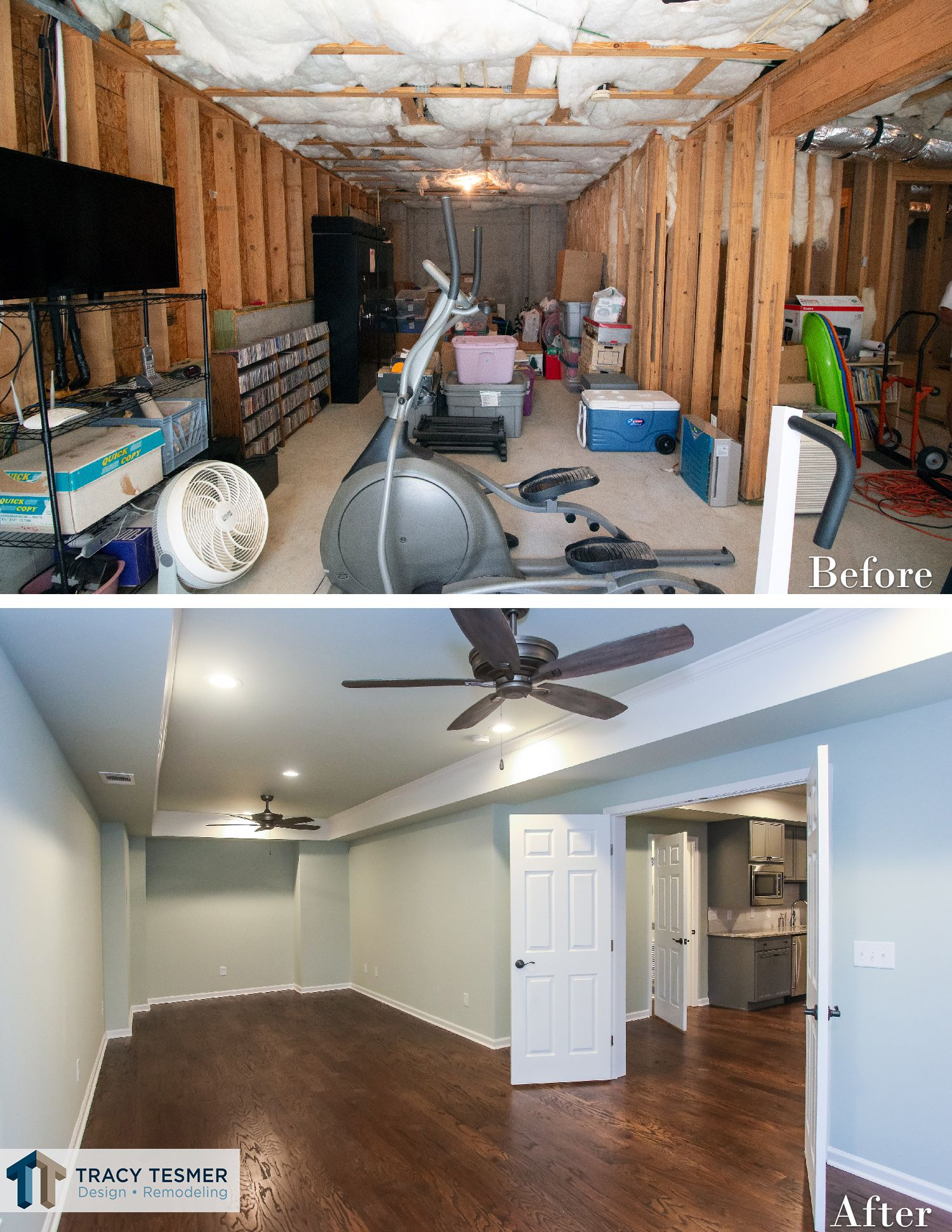 Basement Remodeling Home Office Before And After Basement Office