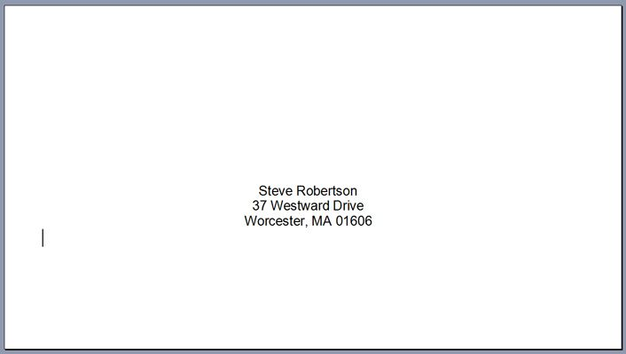 Print Addresses On Envelopes With Microsoft Word Mail Merge