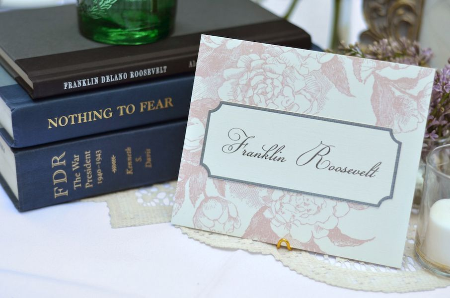 presidential wedding table number