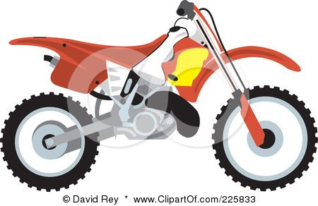 royalty free rf clipart illustration of a red dirt bike by david rh pinterest com dirt bike tire clip art dirt bike racing clip art
