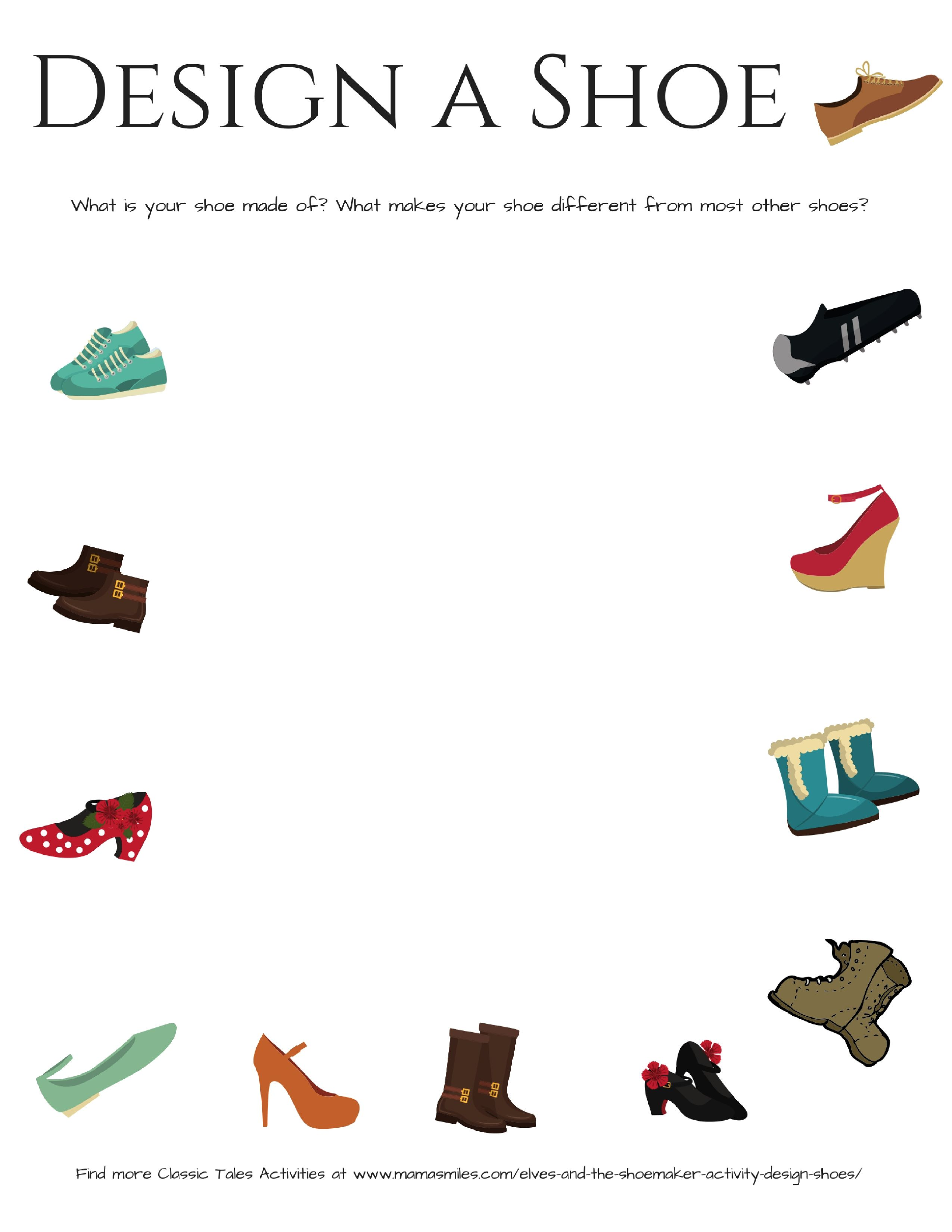 The Elves And The Shoemaker Activity Design Shoes
