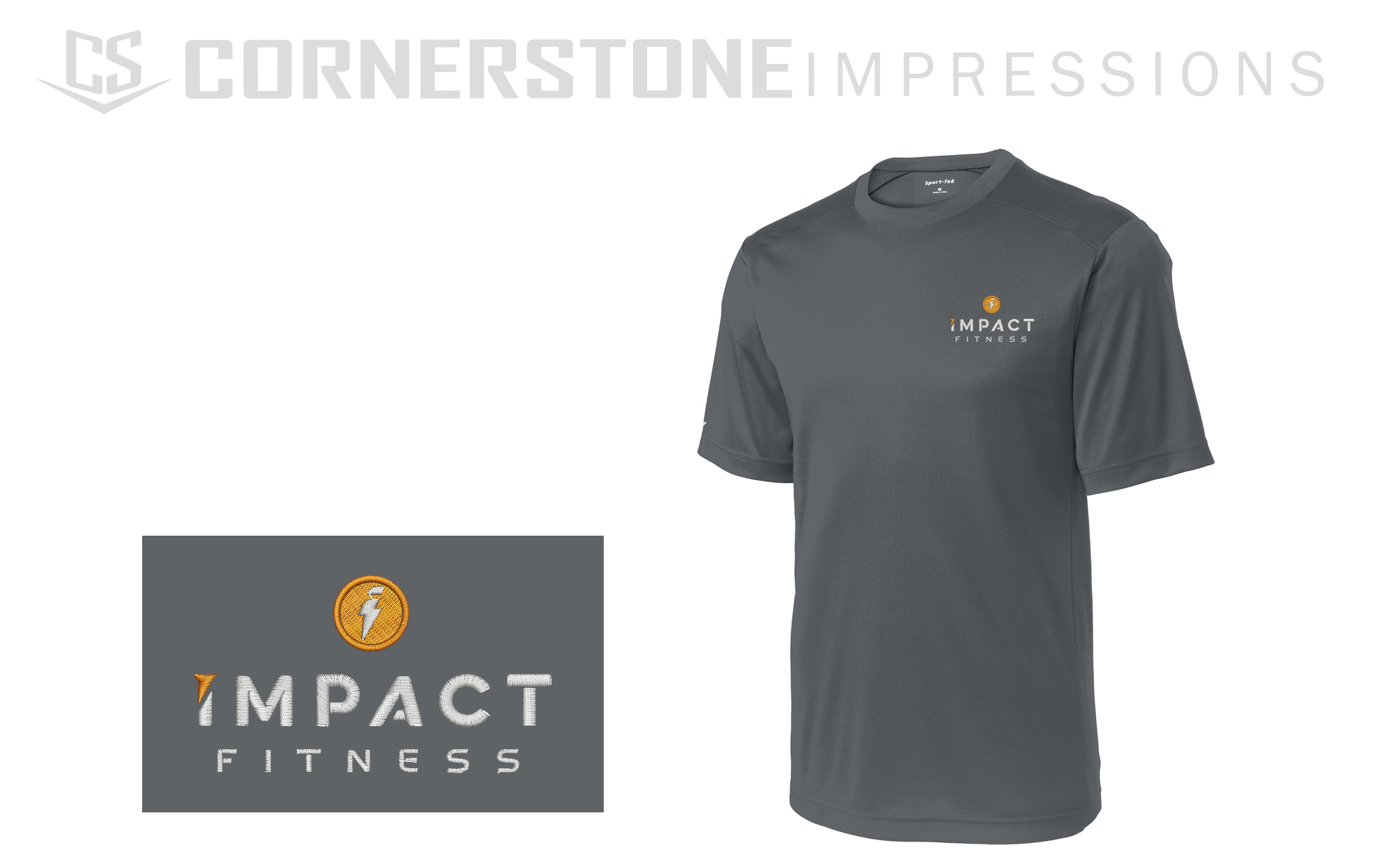 Custom embroidered dri-fit polos are PERFECT for trainers, athletes, and gym rats. We can turn your logo into an embroidery ready file and provide the shirts! The work is done for you, all you have to do is ask. Click the link to request a quote. :)