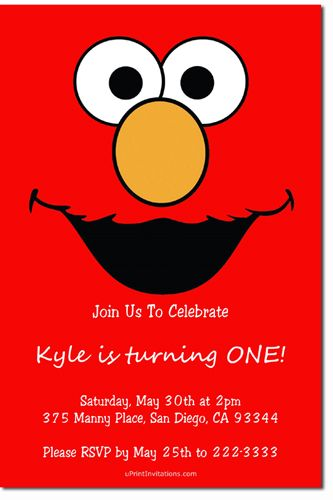 sesame street elmo birthday party invitations - get these, Birthday invitations