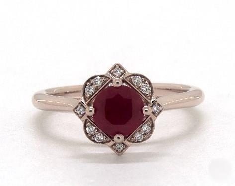 Photo of 1.14 Carat Round Cut Vintage Engagement Ring in 14K Rose Gold