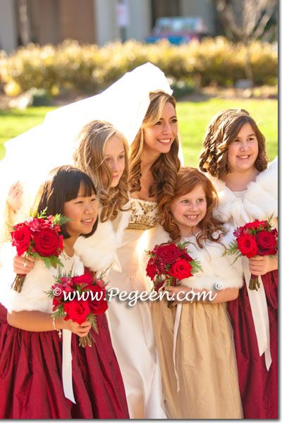 1d49f03c2be Pegeen Tween - Jr Bridesmaids style 383 and flower girl dress style 394 by  Pegeen.com in ivory