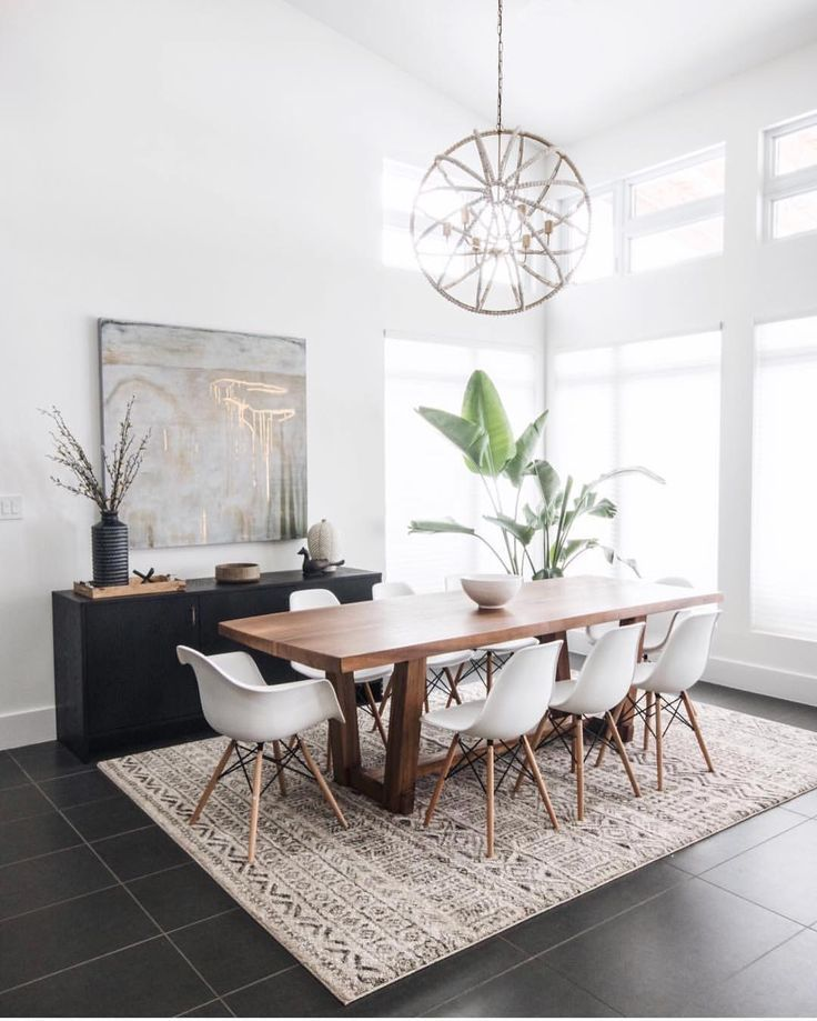 19 Ideas For Creating A Modern Dining Room: How To Create An Affordable Modern Rustic Dining Room