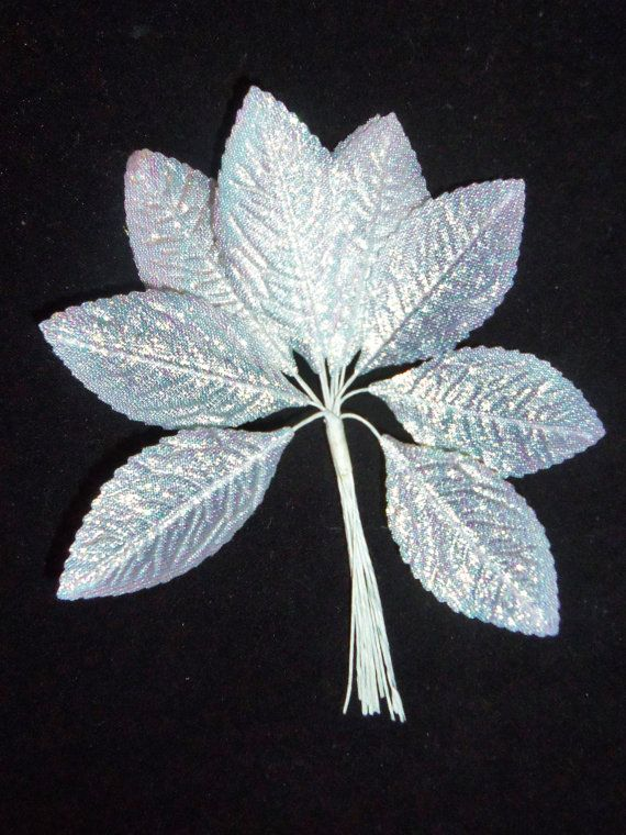 Vintage Wedding Millinery Flowers Rose Leaves White by Avaricia, $4.99