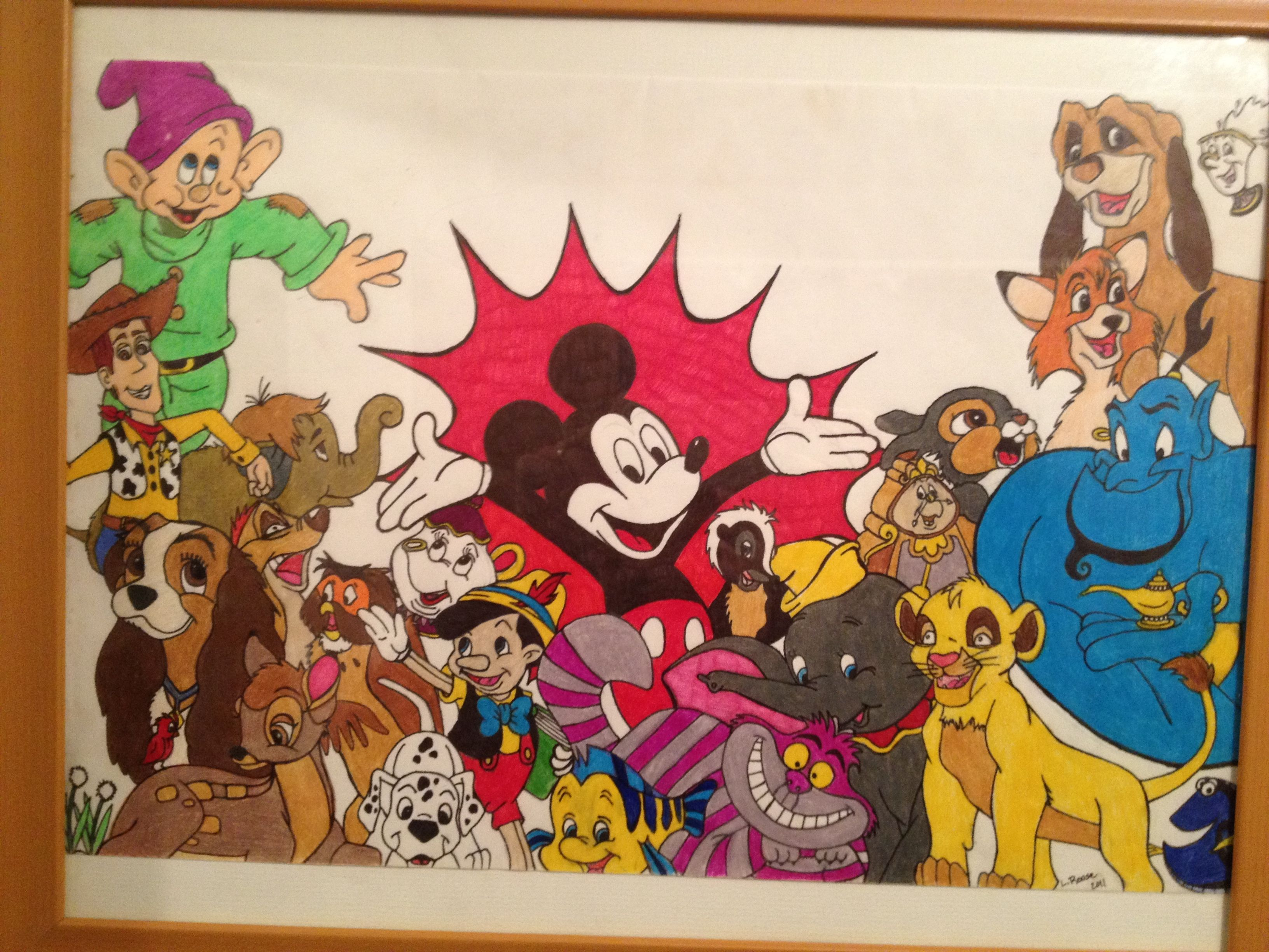 my disney character collage