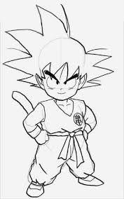 Resultado De Imagem Para Desenhos Do Goku Para Desenhar Goku