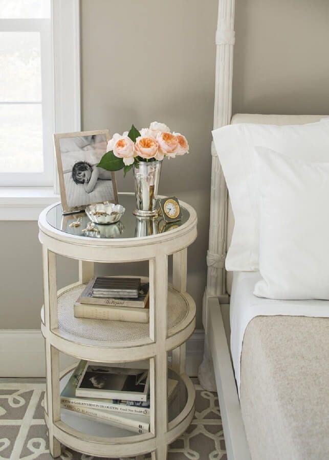 amazing Small Bedside Table Ideas Part - 15: Love this table for the living room. Rounded Victorian-styled Table for the  Feminine Side