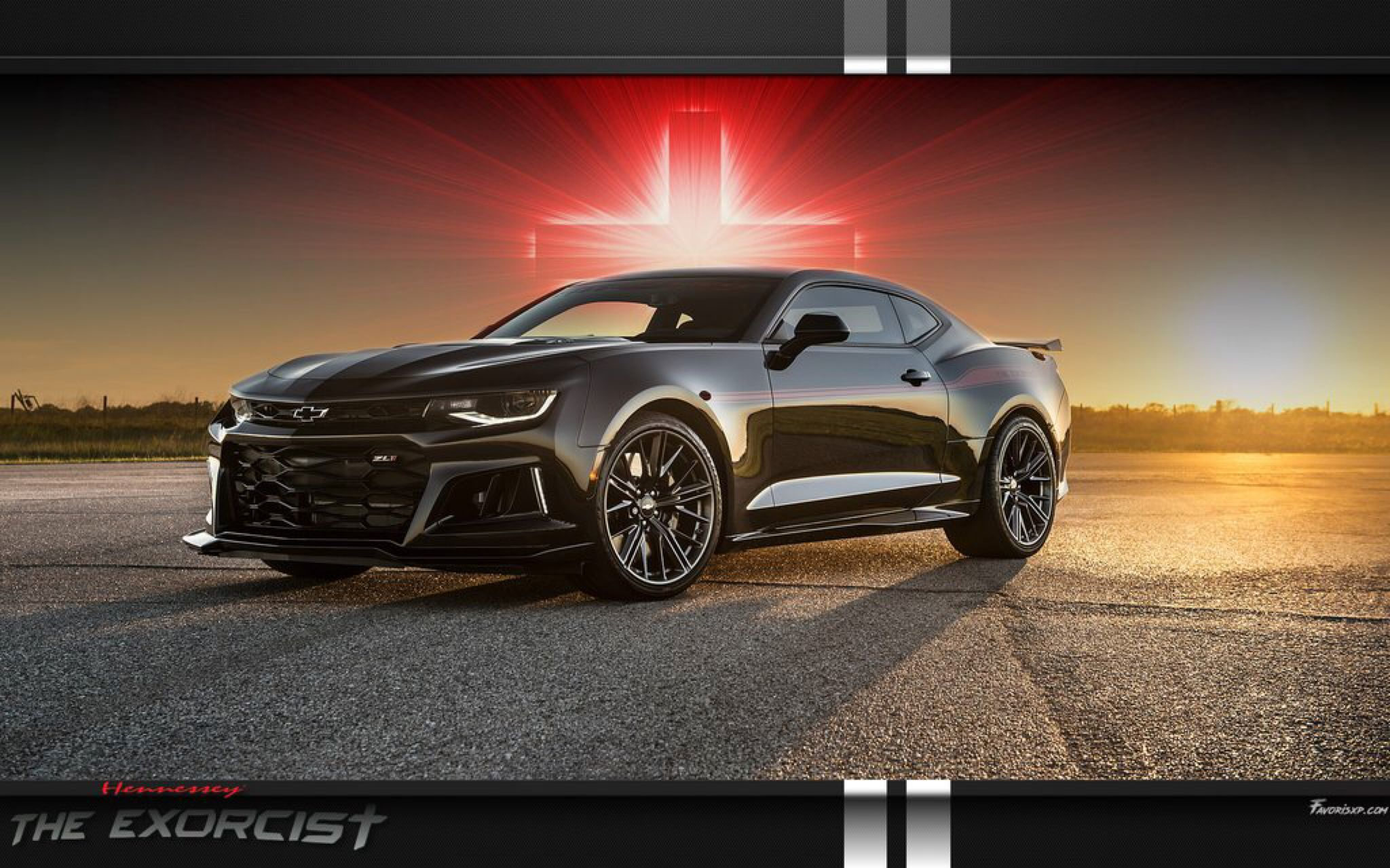 Gto Muscle Car Wallpaper The Exorcist Hennessey Camaro Zl1 Wallpaper By Favorisxp