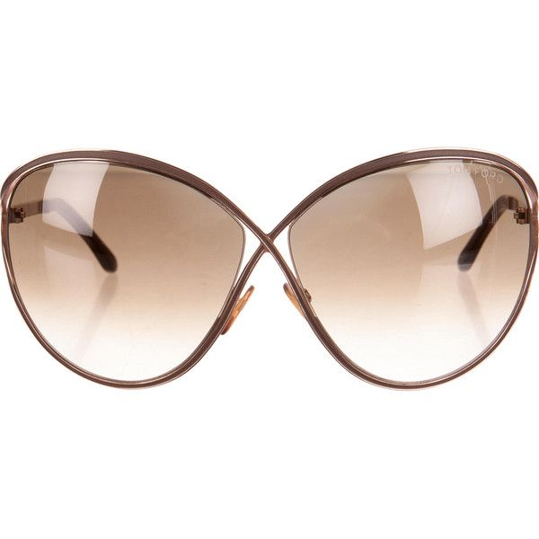 Pre-owned Tom Ford Sunglasses ($145) ❤ liked on Polyvore featuring accessories, eyewear, sunglasses, brown, tom ford eyewear, tom ford sunglasses, brown glasses, brown sunglasses and gradient lens sunglasses
