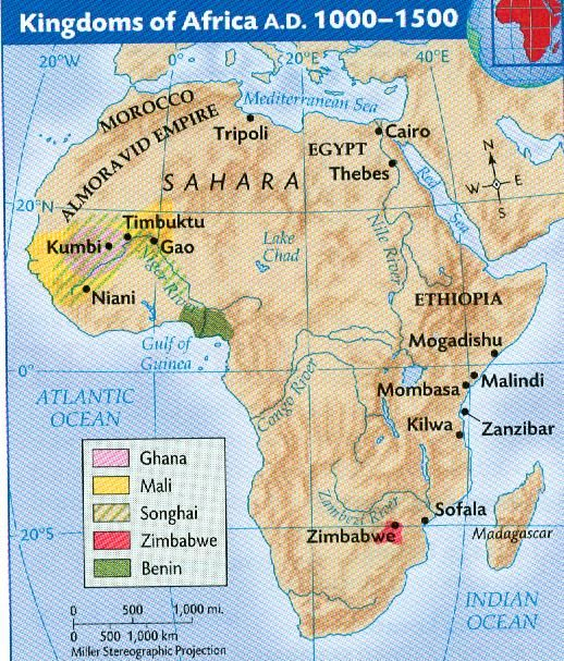 Kingdoms+of+Africa+AD+1000 1500 | Africa | Africa, Ancient egypt