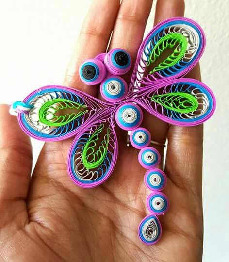 Quilled dragonfly pinteres for Quilling paper craft