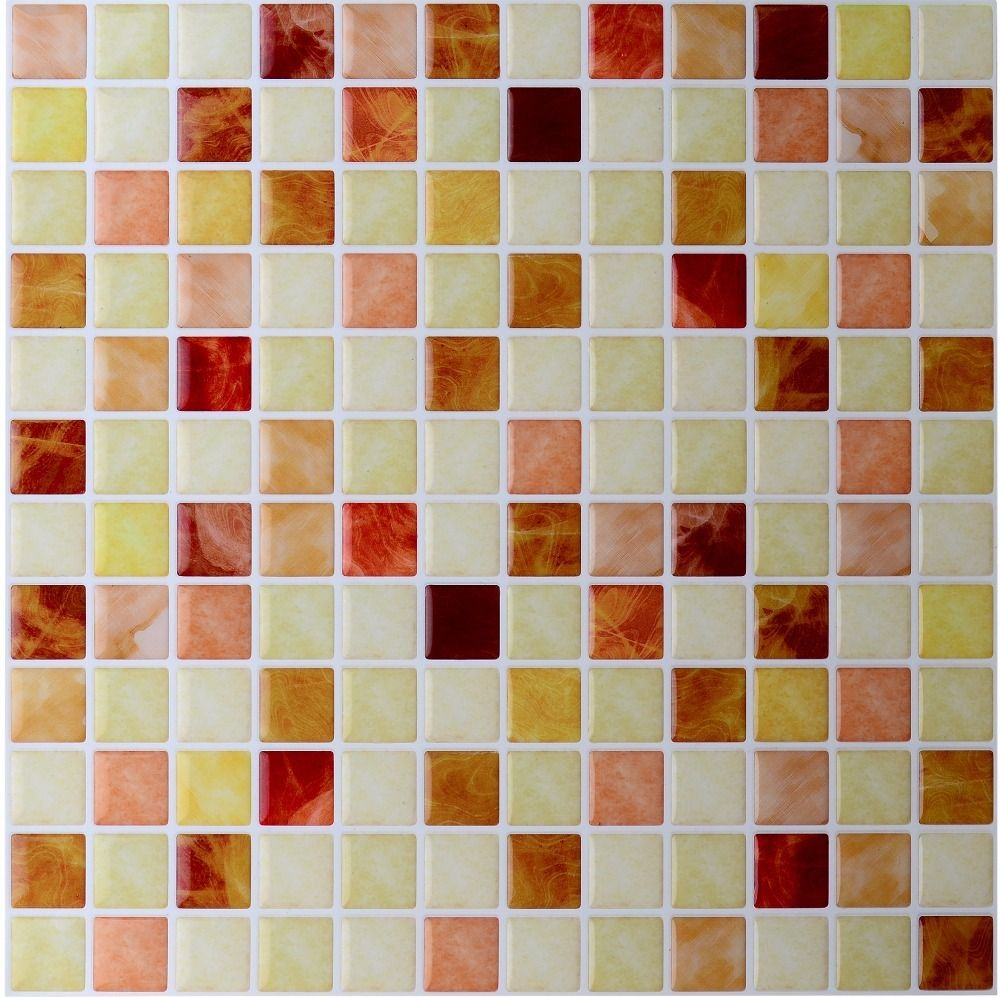 Backsplash tile adhesive lowes peel and stick tile