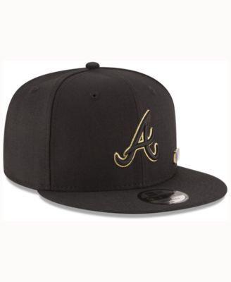 cheaper 00c3a 5be9b New Era Atlanta Braves Metal Man 9FIFTY Snapback Cap - Black Adjustable