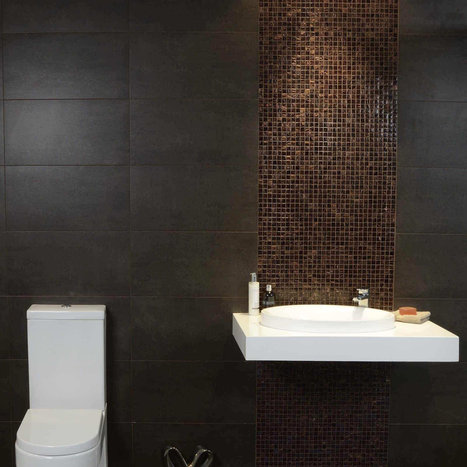 Epsilon Mocha Wall And Floor Tile Spring Bathroom Inspiration