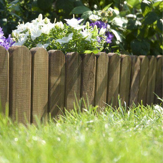 Bordure A Derouler Plate Bois Marron H 20 00 X L 120 00 Cm Bordure Jardin Bois Bordure Jardin Bordure