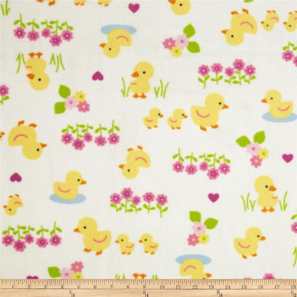 e6a2bb6c5 WinterFleece Baby Ducks White from @fabricdotcom From Windham ...