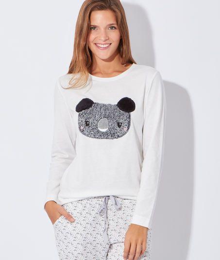f93bdee620f77 Pyjama 3 pièces , veste polaire, haut koala - KOALA - GRIS - Etam ...